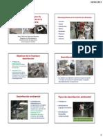 Análisis de ambientes y superficies en la industrial alimentaria