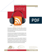 Three Lecture Podcasting Reports Provide Some Insights Specific