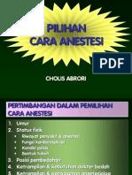 Pilihan Cara Anestesi Anestesi Intravena2