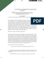 DISCURSOS Y POLÍTICAS AGRARIAS EN ARGENTINA,