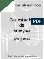 Mario Manuel Alvarez. 2 Estudios de Arpegios