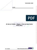 Air dan air limbah – Bagian 1 – Cara uji daya hantar listrik (DHL) (SNI 06-6989.1-2004)