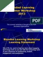 blendedlearningsummerworkshop about