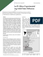 Pre‐Hispanic Au‐Pt Alloys Experimental Simulation Using Solid State Diffusion