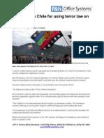 UN Criticises Chile for Using Terror Law on Mapuche