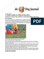 Field Guide to Ethical BreedersWDJ
