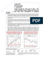 NAB Online Retail Sales Index - Update Jun-13