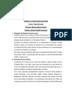 Análisis de la casa de Bernarda Alba.