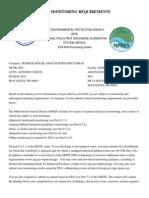 Federacion de Asociaciones Pecuarias de PR, Inc. MSGP Monitoring Requirements