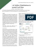 Determination of Airflow Distributions in Okaba Underground Coal Mine