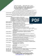 seminario panel 2013. UMEP PERU