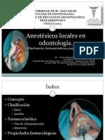 Anestésicos locales en odontología