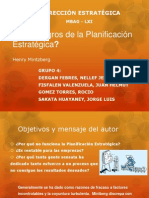 Los Peligros de La Planifiacion Estrategica MBAG61 -Grupo_4