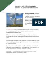 Energía Eólica invertirá US