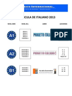Curricula de Italiano 2012