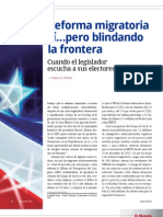 Reforma migratoria sí...pero blindando la frontera. Cuando el legislador escucha a sus electores (La Nación 2378)