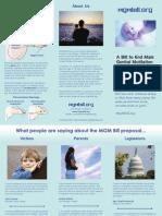 MGM Bill Tri-fold Brochure