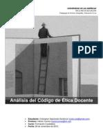 Analisis Articulos Codigo de Etica Docente
