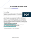 Burdening Project Costing