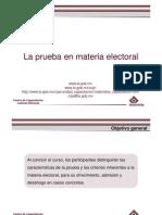 La Prueba en Materia Electoral