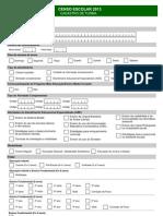 Formulario Censo Escolar Turma 2013