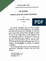Le Kyphi. Parfum sacré des anciens Egyptiens, in Journal Asiatique 1887 p. m 76 ff.