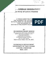Rural Urban Migration (Study of Lahore).pdf