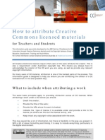 How to attribute Creative Commons licensed materials