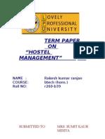 c Term Paper