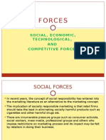 Social, economic, technological & competitive Forces