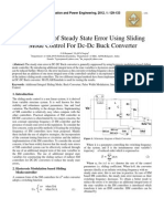 Suppression of Steady State Error Using Sliding Mode Control For Dc-Dc Buck Converter