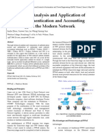 Comparative Analysis and Application of Common Authentication and Accounting Technology in the Modern Network
