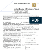 New Approach for Stabilisation of Continuous Takagi Sugeno Fuzzy System