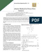 Power Perturbation Method for Power Flow Analysis