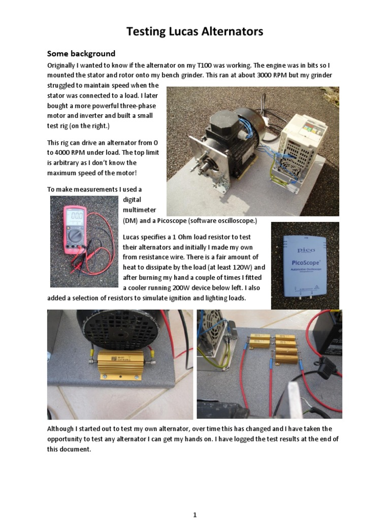 Testing Lucas Alternators Aug 2013   Electrical Resistance And ...