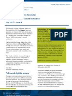 Charter of Human Rights Newsletter Issue 4 - Right to Privacy Enhanced by Charter