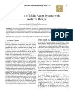Consensus of Multi-Agent Systems with Additive Delays