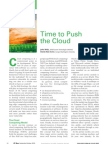 Time to Push the Cloud