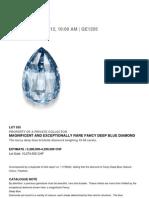 Deep Fancy Blue Briolette Diamond