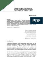 Clase social o categoría política W. Ansaldi.. Ansaldi