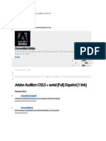 Serial e Instrucciones Adobe Audition Cs5