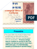 Ecological Ethics of Confucius