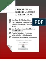 Checklist para Construir as Missões na Igreja Local
