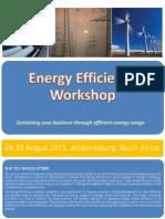 Energy Efficiency Workshop Brochure 29-30 August 2013