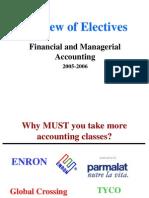Accounting Electives 2005-6