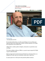 Entrevista a Alberto Noé, doctor en sociología