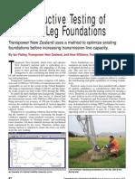 Nondestructive Testing of Concrete Leg Foundations