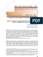 Educação Ambiental e estratégias empresariais na área portuária um estudo da Companhia Docas do Pará (CDP)