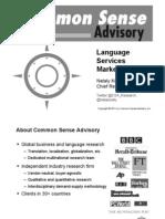 Language Services Market Trends - 2010