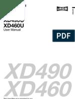 Manual Xd490u Xd460u